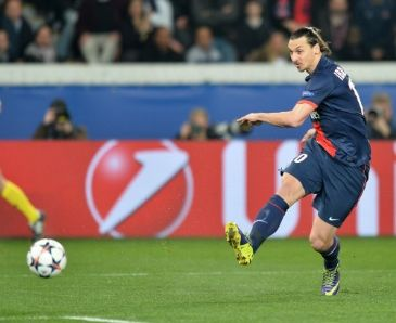 Ibrahimovic also received 'most beautiful goal of the year' award for his chest-high backheel flick in a 4-0 win over Bastia in October
