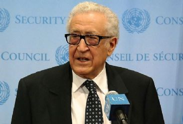 Meeting with Jarba comes as Lakhdar Brahimi, UN's Syria envoy, announces his resignation