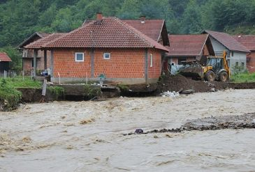 Bosnia and Serbia's worst flooding in 120 years has killed five people so far.