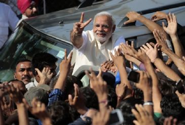 India's newly-elected PM Naredndra Modi hails landslide victory for BJP and allies