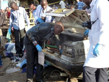 The African Union on Saturday strongly condemned twin bombings that rocked Kenyan capital Nairobi one day earlier.