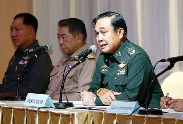 Army underlines move is 'not a coup'; martial law allows it to take control of security, but is supposed to leave government in charge of other tasks