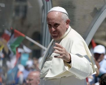 Pope Francis of the Vatican on Sunday said that Israel has the right to existence and the Palestinians have the right to a homeland.
