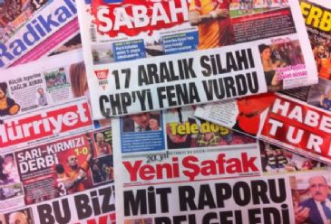 Turkish Dailies on Tuesday covered order by a Turkish court for the arrest of 4 Israeli officials in regards to the 2010 attack on the Mavi Marmara, the results of the European Parliament elections and the appearance by American pop singer Justin Timberlake at ITU Stadium in Istanbul
