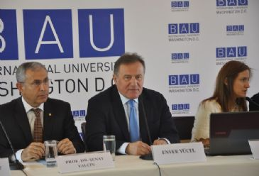 Bahcesehir University, a private, Turkish university, will commence operations in Washington DC in September, the university's chairman and founder, Enver Yucel, said Tuesday.