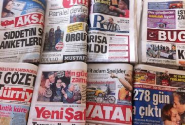 Wednesday's newspapers covered eleven police officers being questioned Tuesday in relation to the wiretapping of Turkish Prime Minister Recep Tayyip Erdogan's office, fifteen more kidnapped Turkmen by the militants of Islamic State of Iraq and the Levant (ISIL) in Iraq's Dor district and Turkey's Sa