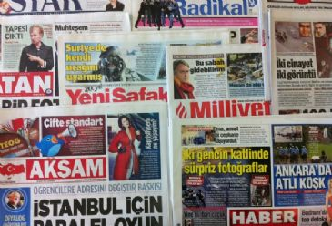 Turkish dailies today focused on PM Erdogan's candidacy in the forthcoming presidential election, three more Turkish opposition parties' endorsement of rival candidate Ekmeleddin Ihsanoglu and the detention of former French president Nicolas Sarkozy