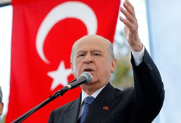 Devlet Bahceli says prime minister should quit his post before the presidential elections in which he is a candidate