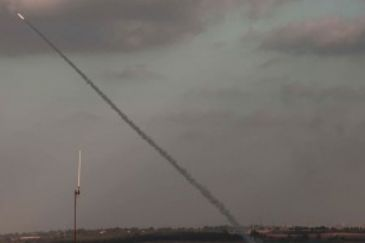A rocket fired from the Gaza Strip on Friday fell on an Israeli woman's house at the southern Sderot town, the Israeli police said on Friday.