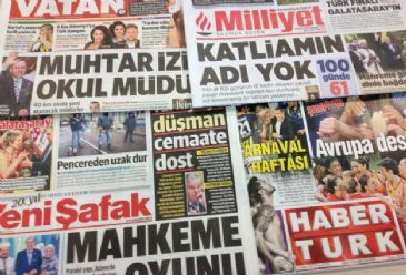 The victory of the president-elect Erdogan in Sunday's presidential election received full-page coverage in all major Turkish newspapers on Monday.