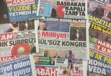 The repercussions on Turkish political life following Erdogan's victory in Sunday's presidential election received full-page coverage in all major Turkish newspapers on Tuesday