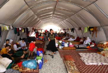 The camp is going to house around 16,000 people, Turkish disaster and emergency management agency says