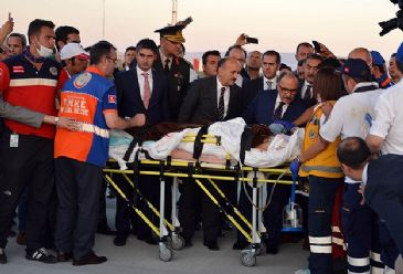 A Turkish Armed Forces transport plane has taken 18 injured Palestinians and their relatives from Gaza to Turkey for medical treatment