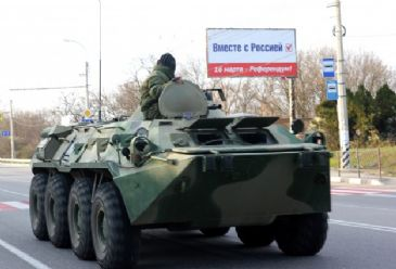 Russian tanks and military vehicles entered Ukraine through the separatist-controlled border crossing in Izvarino in the eastern region of Donetsk.