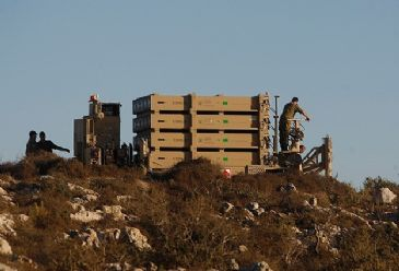 Israel's Iron Dome batteries deployed near Lebanon's border in preparation for possible attack from Hezbollah