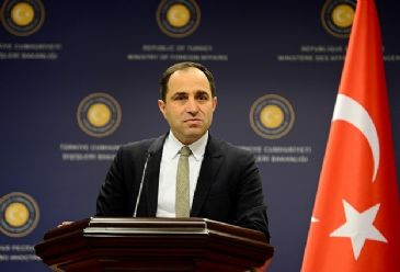 Addressing a weekly briefing in Ankara, Foreign ministry spokesman spoke about support for Turkish Cypriots, Crimea and the situation in Syria and Egypt